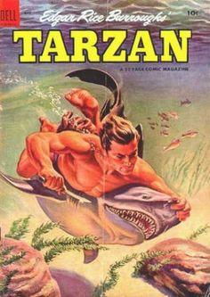 Edgar Rice Burroughs, Tarzan - love this cover.