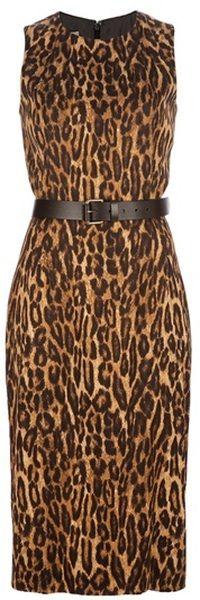 MICHAEL KORS Leopard Print Dress - Lyst
