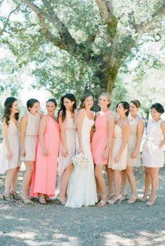Mismatched Bridesmaid Dresses Trend
