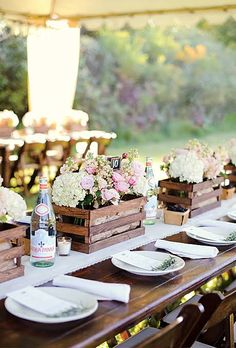 These rustic decoration ideas are sure to help elevate your wedding decor! Check out these awesome rustic wedding table decorations! Rustic Wedding Centerpieces, Wedding Decorations, Table Decorations, Centerpiece Ideas, Rustic Weddings, Decor Wedding, Simple Centerpieces, Wedding Rustic, Garden Wedding