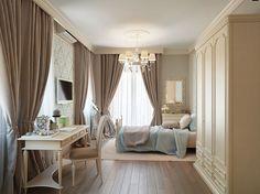 Camera da letto romantica nella tonalità grigio talpa n.01