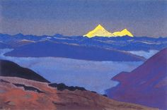 Jelep La, Tibetan Frontier by Nicholas Roerich
