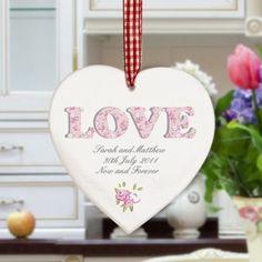 Love wooden heart sign