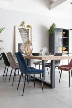 Eetkamerstoel Velours Rob Oker Geel   Oosterbaan Living Velvet Shop, Zen, Modern Design, Dining Chairs, Lifestyle, Furniture, Shopping, Home Decor, Products