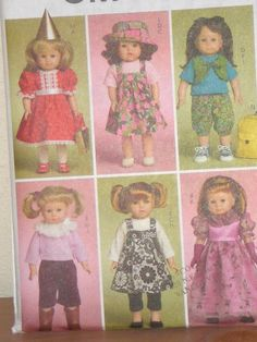 AMerican Girl Doll Clothes Pattern MCCALLS by patternsandcrafts