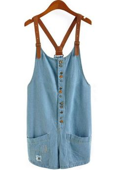 Denim dress with buckle straps
