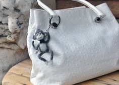Hey, I found this really awesome Etsy listing at https://www.etsy.com/listing/246399033/monkey-woolkeychain-for-bags-little