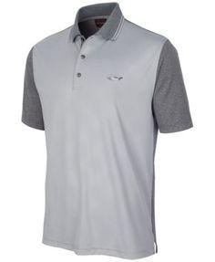 b21619f59 Greg Norman For Tasso Elba Men s Diamond-Embossed Golf Polo