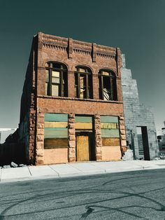 """""""Colorful Face of History"""" An abandoned old building in the historic town of Winslow, Arizona, reflects a potentially colorful past from the photographers interpretation."""