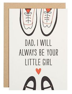 Dad's Little Girl Father's Day Card