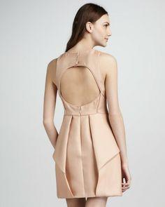 Tibi Simona Jacquard Cutoutback Origami Dress in Pink (blush) - Lyst