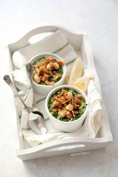 Risotto agli spinaci limone e tonno