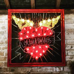 Tattoo Light Up SIgn/fairground lights/circus by ArgentandSable
