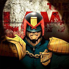 Judge Dredd , final version.    #digitalpainting #digitalcomic #flamalamastudio #2000ad #judgedredd #fanart