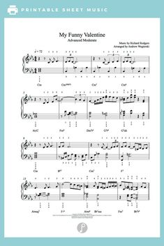 My Funny Valentine by Rodgers & Hart Piano Sheet Music | Advanced Level