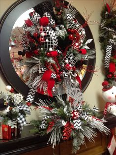 Christmas mantel at Something Special. Decor and floral arrangement ideas.