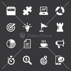 Business Strategy Icons - White Series   EPS10