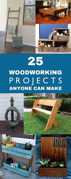 Great collection of woodworking projects you can accomplish yourself, no matter what your skill level. #WoodworkingProjects