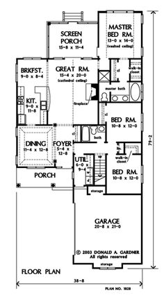 Search house plans from the Donald Gardner portfolio of custom home designs. The best home plans since Custom modification to all floor plans available. Small House Living, Small House Plans, House Floor Plans, Sims 3 Houses Ideas, House Ideas, Best Home Plans, Morrison Homes, Courtyard Entry, Custom Home Designs