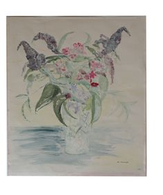 GIVE THE GIFT OF ART, original vintage paintings Floral by Miller watercolor (http://anna-hackathorn.mybigcommerce.com/floral-by-miller/)