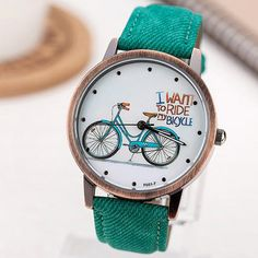 Huge savings on this Bicycle green Summer Afternoon Ladies Casual Watch €7.99 -  DIRECT FROM SUPPLIER (FREE SHIPPING) #WatchesDirectEU #womensfashion #womenswatches #watches