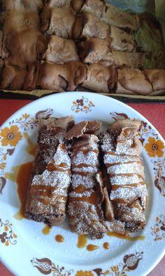 Csokoládés palacsintafelfújt Chimichanga, Fudge, Pancakes, French Toast, Cooking Recipes, Sweets, Beef, Breakfast, Mille Crepe