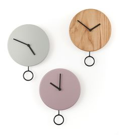 Haro Clocks by Estudio Diario Wall Clock Ikea, Wall Clock Nursery, Big Wall Clocks, Wall Clock Wooden, Kitchen Wall Clocks, Cool Clocks, Diy Clock, Pendulum Clock, Unique House Design