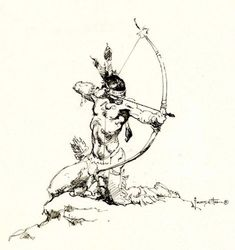 Frank Frazetta American Indian Sketch, in Chris Power's Frank Frazetta Comic Art Gallery Room Frank Frazetta, Native Art, Native American Art, American Indians, American Soldiers, Comic Kunst, Comic Art, Magia Elemental, Serpieri