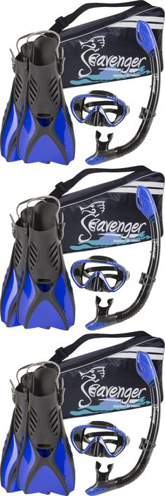 Snorkels and Sets 71162: Durable Scuba Diving/Snorkeling Blue Mask Snorkel Fin Set Gear Bag Medium (7-11) BUY IT NOW ONLY: $47.86
