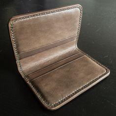 Handmade Horween Chromexcel bifold card wallet