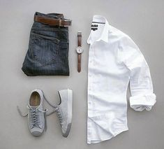 Casual white shirt