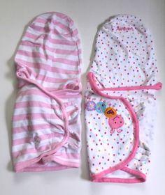 Lot 2 SwaddleMe Wraps Summer Pink Stripe Caterpillar Baby Blanket Girl Small M #SwaddleDesignsSummer