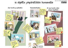 10 ohjetta ympäristöään kuvaavalle julisteena