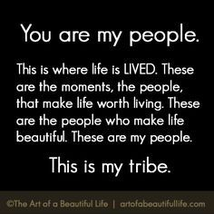 I manifested my #Tribe and have been #Blessed with people who are my true #Family, and I am so #Grateful.
