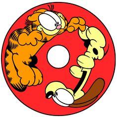 Alfabeto de Garfield y Oddie haciendo travesuras. | Oh my Alfabetos!