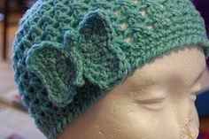 Free Crochet Hat Pattern. Butterfly