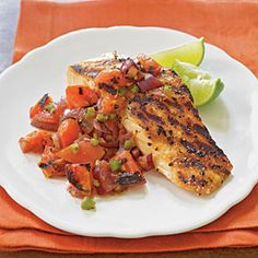 Grilled Salmon with Smoky Tomato Salsa | MyRecipes.com