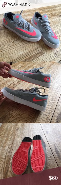 Nike girls KD Vulc Shoes Kevin Durant skateboard Basically brand new. Only been worn once or twice. They were to small for me. Nike Shoes Athletic Shoes
