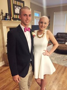 Inspiring Teen Shaved His Head For Prom Date Battling Cancer - http://www.sqba.co/life/inspiring-teen-shaved-his-head-for-prom-date-battling-cancer/