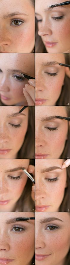 Natural Brow Beauty Tutorial. Step by step indications to get beautiful brows.