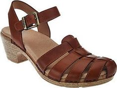 Dansko Leather Closed-toe Sandals with Backstrap - Milly