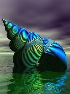 beautiful blue and green whorl on the sea Images 1