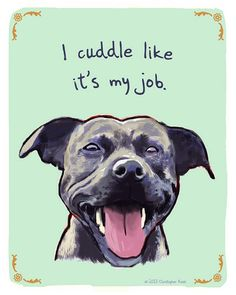 Staffy 8x10 Print of Original Painting with by tinyconfessions, $20.00
