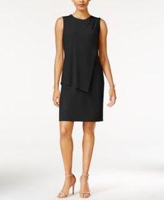 Bar Iii Draped Sheath Dress, Only at Macy's - Black XXS
