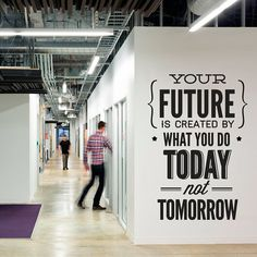 Typography Stickers Office Decor  Your Future by homeartstickers