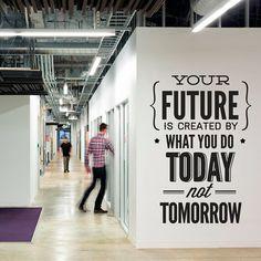 Typografie Stickers Office Decor - uw toekomst vandaag - inspirerende Stickers motiverende Decals SKU: DoItSticker