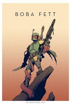 Star Wars - Boba Fett by Jake Parker *