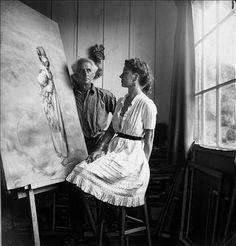 Dorthea Tanning and Max Ernst Between 1946-1950. They married in 1946 for 30 years  until his death.