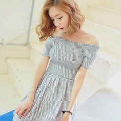 Buy 'WITH IPUN – Off-Shoulder Smocked A-Line Dress' with Free International Shipping at YesStyle.com. Browse and shop for thousands of Asian fashion items from South Korea and more!