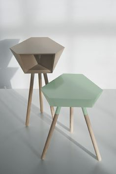 "Stool and table ""The Best Friends"" by Clara Scharping on www.the-interiordesign.com"